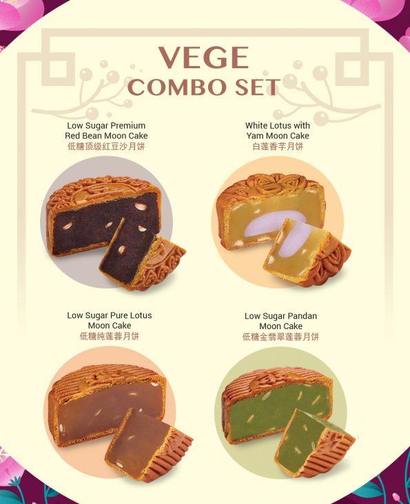 Vegetarian Moon Cake 4pcs Combo
