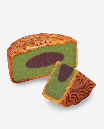 Mika Matcha Red Bean Moon Cake 抹茶红豆月饼