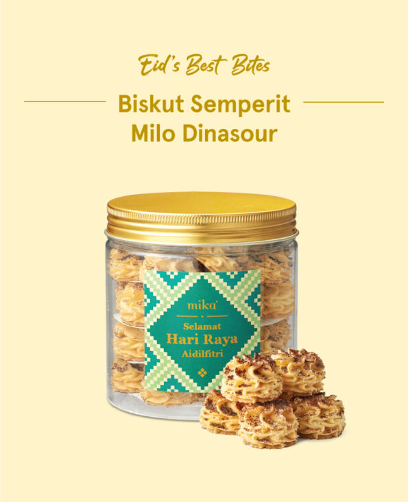 Mika Raya Cookies - Biskut Semperit Milo Dinasour