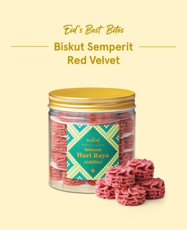 Mika Raya Cookies - Biskut Semperit Red Velvet